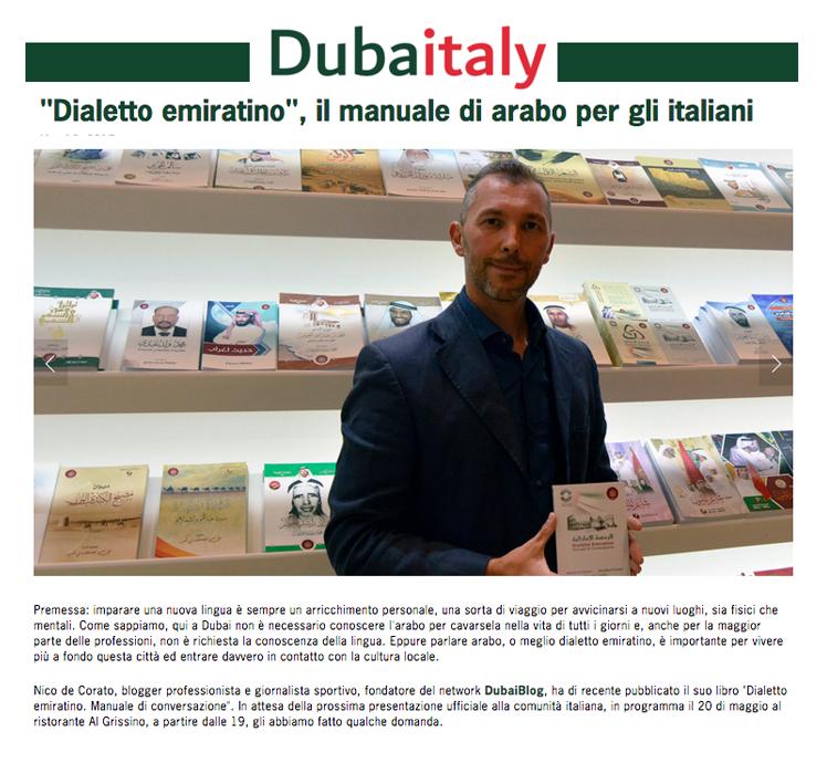 Rassegna Stampa DubaiItaly