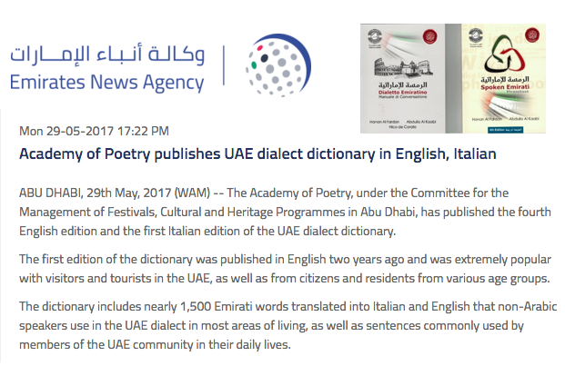 Rassegna Stampa Emirates News Agency